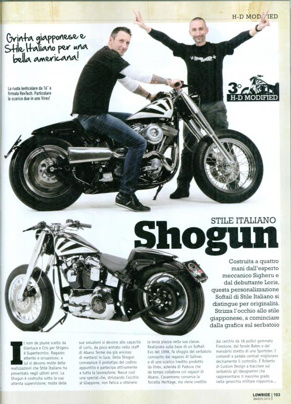 La nostra Shogun 1340 terza nella categoria Modified al Motorbike Expo 2013.